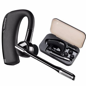 newst Bluetooth Headset Handsfree Wireless Car Headphone Noise Canceling HD Microphone Bluetooth Earphone gift Carrying box