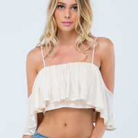 Ruffled Gypsy Off-The-Shoulder Top