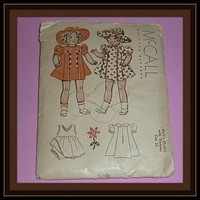 1937 McCall Pattern - Doll Outfit Size 22 - Shirley Temple (item #1291597)