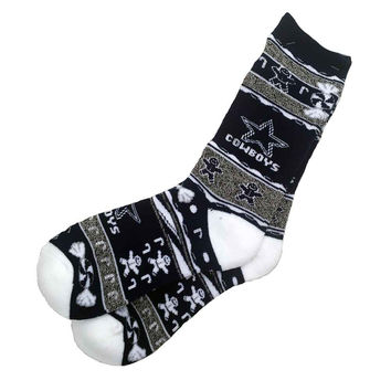NFL Dallas Cowboys Ugly Xmas Socks [Men's Large]