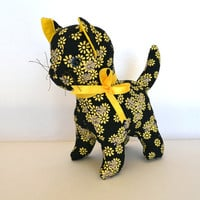Daisy the cat, Black soft toy cat, cat toy