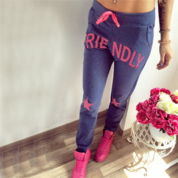 Print Casual Hot Sale Alphabet Pants [9328129732]