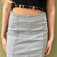Tell Me Lies Skirt - Grey