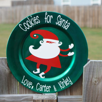 Christmas Decor: Cookies For Santa Plate, Reindeer Food Bowl, and Milk for Santa Cup, Group Purchase