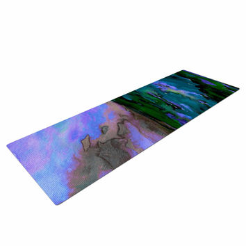 "Ebi Emporium ""Elevated 3, Teal "" Purple Blue Yoga Mat"