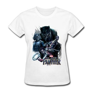 Tee Shirt Femme Sexy 2018 New Trendy Summer Tshirt Black Panther Printed T Shirt For Best Friend Gift American Anime Graphic