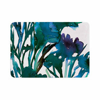 """Ebi Emporium """"Petal For Your Thoughts Teal"""" Turquoise Green Memory Foam Bath Mat"""