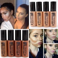 2016 Professional Hot Cosmetics Moisturizer Face Primer Liquid Minerals Matte Dark Skin Liquid Foundation Contouring Makeup