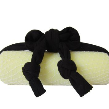 Hair Salon Neck Support Pillow for Shampoo Bowl with Organic Bamboo French Terry Black
