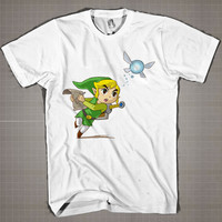 Adventure Of ZELDA-Run  Mens and Women T-Shirt Available Color Black And White