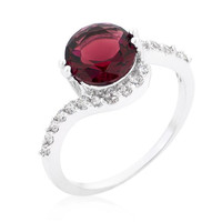 Red Swirling Engagement Ring, size : 06