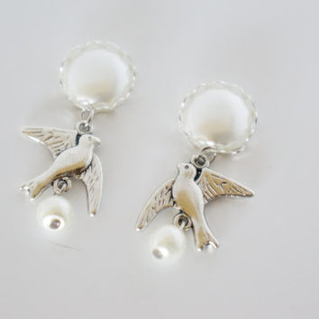 00g 0g 2g 4g Pearl Dangle Wedding Plugs Gauges