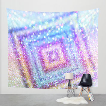diamond glitter Wall Tapestry by Haroulita