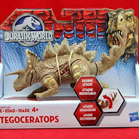 Jurassic World Bashers and Biters BROWN Stegoceratops Action Figure Toy