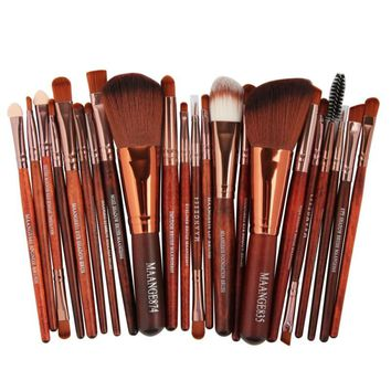 2017 Professional 22pcs Cosmetic Makeup Brushes Set Blusher Eyeshadow Powder Foundation Eyebrow Lip Make up Brush Maquiagem Kit