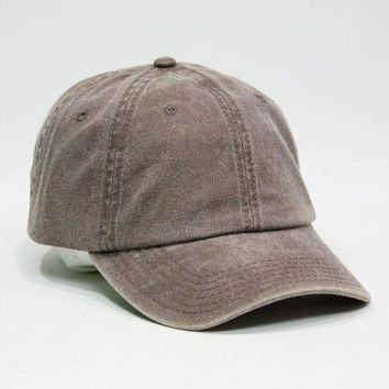 VONE05F Day First Cute Plain Washed Cotton Twill Baseball Cap with Adjustable Velcro