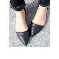 Buckled Ankle Chic Flat Shoes
