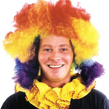 Clown Wig Super Jumbo Multi Halloween freak show circus carnival props