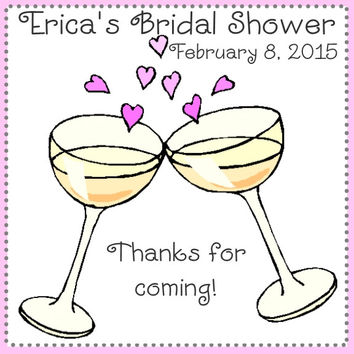 Cheers Bridal Shower Favor Tags