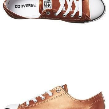 converse chuck taylor all star dainty shoe blush gold black whi