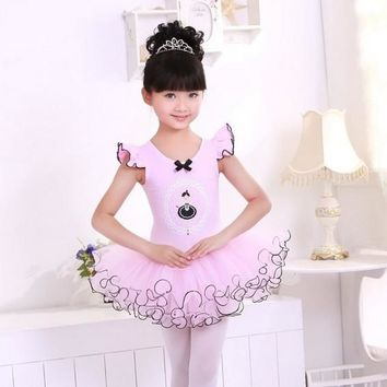 Children Dance Tulle Dress Girl Ballet Dress Fitness Clothing Performance Wear Leotard Costume Girl Ballet dresses 3-12Year