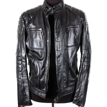 Belstaff Black Leather Moto Jacket