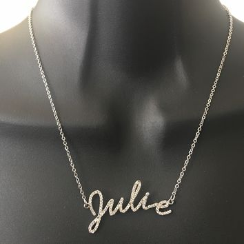 cdad419073231 Best Diamond Name Necklace Products on Wanelo