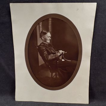 Vintage Photograph – Old Woman in Rocking Chair - Large Format