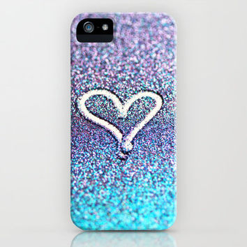 glitter heart- photograph of glitter  iPhone Case by Sylvia Cook Photography   Society6