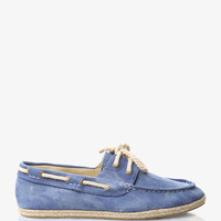 Espadrille Chambray Boat Shoes