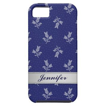 Tiny Harebells - Hungarian Blue-dye Folk Art iPhone 5 Cover from Zazzle.com