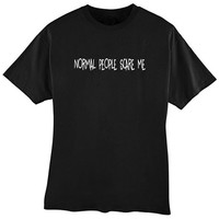 Normal People Scare Me #2 Adult Black T Shirt