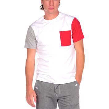 Publish Saturday Colorblock Pocket Tee - Red