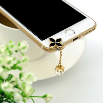 Luxury Crystal Mobile Phone Accessories 3.5 MM Universal Dustproof Earphone Jack Anti Dust Plug Cap For iPhone Samsung Sony HTC