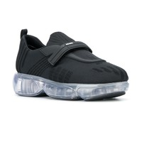 Clear Sole Bubble Strap Sneakers by Prada