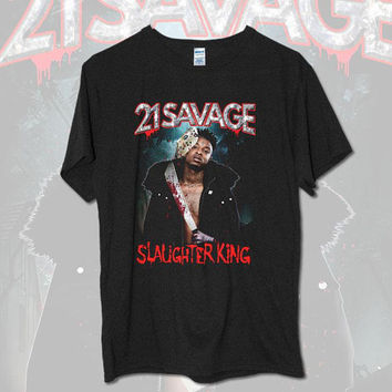 Inspired By 21 SAVAGE Slaughter King GILDAN Tour T-shirt