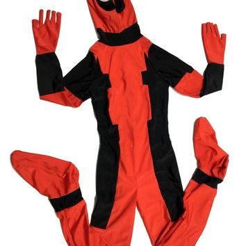 Deadpool Dead pool Taco  Halloween Costume For Kidsmask cosplay costumes for children boys fancy dress Lycra Spandex Zentai anime fantasia child AT_70_6