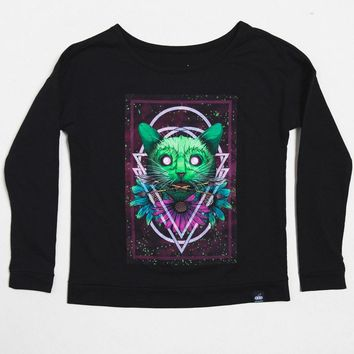 Neon Jungle Cat Long Sleeve Women's Tee