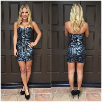 Watch the Ball Drop Sequin Dress