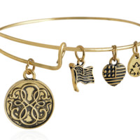 Alex and Ani style path of life pendant charm bracelet,a perfect gift !