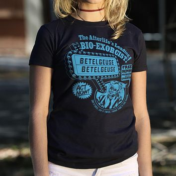 The Afterlife's Leading Bio Exorcist [Beetlejuice] Women's T-Shirt
