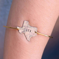 Stamped Texas Bangle