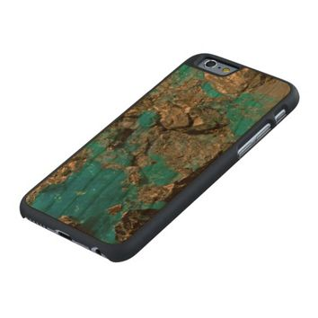 Natural Turquoise Stone Carved® Cherry iPhone 6 Slim Case