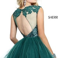 Short High Neck Party Dress by Sherri Hill