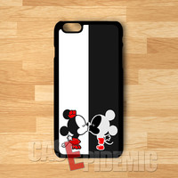 Couple Kissing Mickey Mouse and Minnie Mouse -3ind for iPhone 6S case, iPhone 5s case, iPhone 6 case, iPhone 4S, Samsung S6 Edge