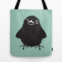 Baby Raven, Wink Tote Bag by Raven Jumpo