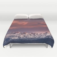 "Mysterious mountains"". Sunset at the mountains. Duvet Cover by Guido Montañés"