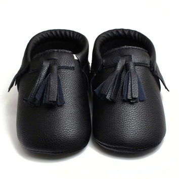 Pro Baby PU Shoes Prewallers Princess Toddler Infant Soft Sole PU Leather Shoes Tassels Baby Cute Moccasin Lisa's Store NW