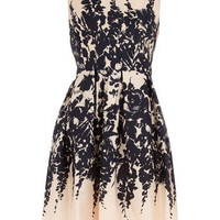 Nude floral border prom dress - New In Dresses - Dresses - Dorothy Perkins