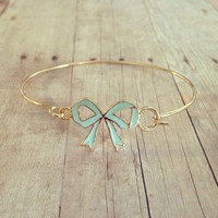Blue bow bracelet from GypsyRoom